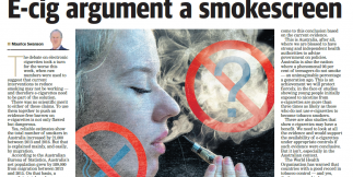 E-cig argument a smokescreen