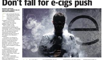 Don't fall for e-cig push – The West Australian, Thursday, September 26